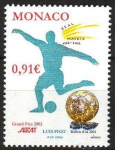 Monaco 2002 Football Soccer Luis Figo MNH**
