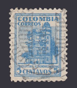 COLOMBIA 1948 SCOTT # 565. USED