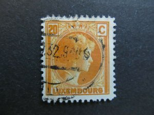 A4P26F64 Letzebuerg Luxembourg 1926-35 20c used