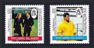 Pitcairn Prince Andrew Royal Wedding 2v SG#290-291 SC#275-276