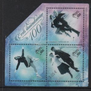 Estonia Sc 838 2017 Figure Skating stamp sheet mint NH