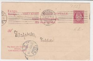norway 1907 stamps card ref 19400