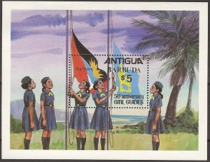 1981 Scouts Barbuda Girl Guides 50th anniversary SS