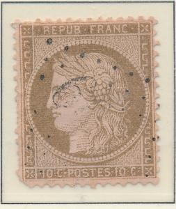 France Stamp Scott #54, Used - Free U.S. Shipping, Free Worldwide Shipping Ov...
