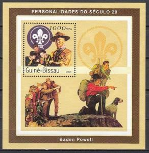 Guinea Bissau, Mi cat. 1607, BL417 A. Baden Powell of Scouting s/sheet. ^