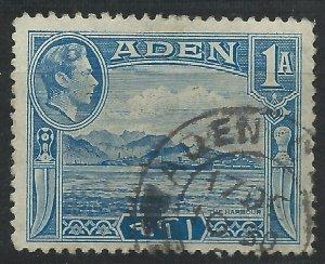 Aden 1939 - George VI 1a blue - SG18 used