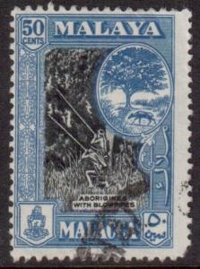 Malaya Malacca Scott 52 - SG46, 1957 Aborigines 50c used