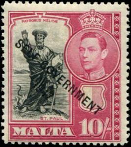Malta SC# 222 SG# 248 o/p Self Government 1947 10sh MVLH