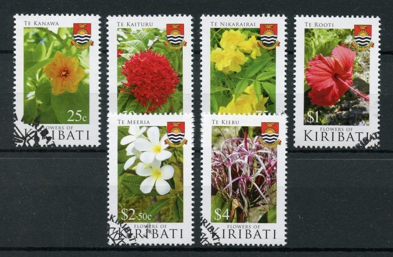 Kiribati 2017 CTO Flowers of Kiribati 6v Set Nature Flora Plants Stamps