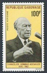 Gabon C63,MNH.Michel 296. Konrad Adenauer,Chancellor of Germany.1968.
