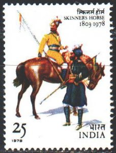 India. 1978. 776. Army, horse, riders. MNH.