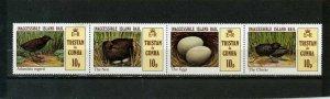TRISTAN DA CUNHA 1981 BIRDS STRIP OF 4 STAMPS MNH