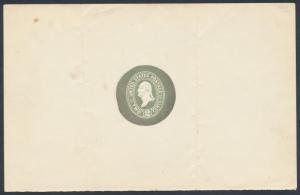#E87Aa 1886 PLIMPTON 1886 DIE ESSAY EMBOSSED BLUE GRN ON WHITE; FOLDMARKS BR3108