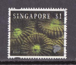 Singapore # 682, Knob Coral, Used, 1/2 Cat.