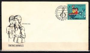 Caribbean Area, Scott cat. 1706. Children`s Songs issue. First day cover.