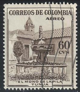 Colombia #C247 60c Mono Fountain