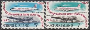 Norfolk Is. 119-20 MNH - Airplanes