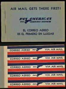 1930s Latin America Pan American Airways Booklet of 50 Airmail Etiquette Label