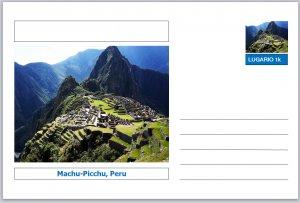Landmarks - souvenir postcard (glossy 6x4card) - Machu Picchu, Peru