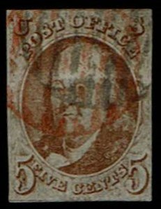 Scott #1b Fine-used. With 2020 PSE certificate. SCV - $725.00