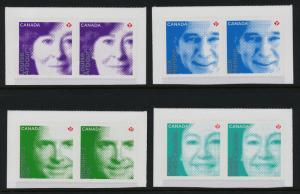 Canada 2550-3 Pairs MNH Difference Makers, Hansen, Fox, Arbour, Watt-Cloutier