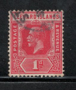 Leeward Islands 1921 King George V 1p Scott # 63 Used