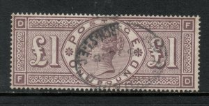 Great Britain #123 (SG #186) Used Fine - Very Fine Fresh With Church Street Cncl