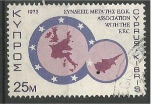 CYPRUS, 1973 used 25m, EEC. Scott 405