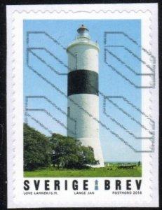 Sweden 2814 - Used - (9k) Lange Jan Lighthouse (2018) (cv $2.25)
