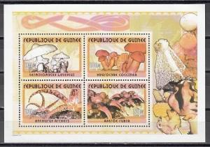 Guinea, 2002 issue. Mushroom sheet of 4.  1900 value. ^