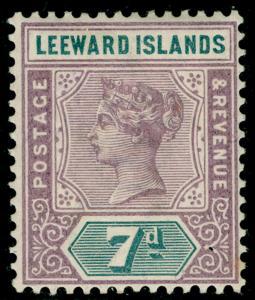 LEEWARD ISLANDS SG6, 7d dull mauve & slate, LH MINT. Cat £11.