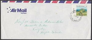 NORFOLK IS 1989 5c local rate cover.......................................57655