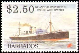 1995 Barbados #891-894, Complete Set(4), Never Hinged