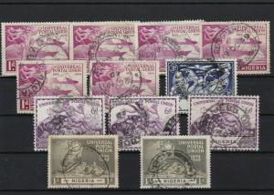 NIGERIA 1949 USED STAMPS