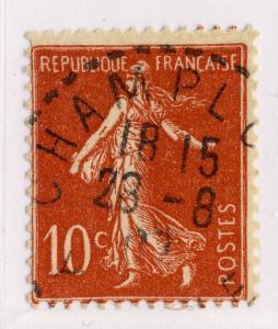 FRANCE - 1907 - CàD Beau DISTRIBUTION  CHAMPLOST / YONNE   sur n°135