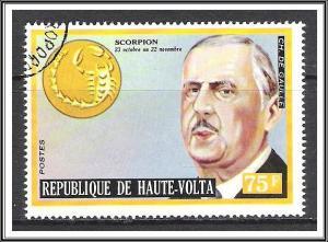 Upper Volta #318 Famous Men & Zodiac CTO