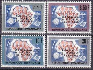 Rwanda #9-12 MNH CV $2.55  (V4702)