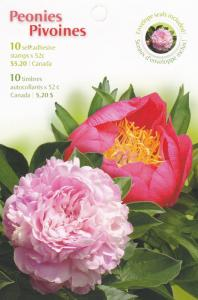Canada # 2262b, Flowers -Peonies - complete Booklet, Mint NH