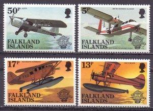 Falkland Islands. 1968. 190-93. Aviation. MNH.