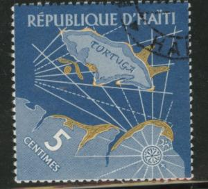 HAITI Scott 475 used cto 1961  pirate stamp