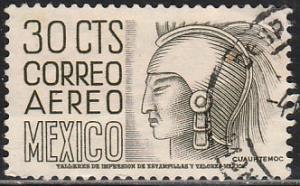 MEXICO C220Bl, 30c 1950 Definitive 2nd Ptg wmk 300 PERF 11 1/2X11 USED VF (1148)