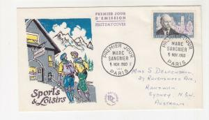 FRANCE, 1960 Marc Sagnier 20c., Illustrated First day cover to Australia.