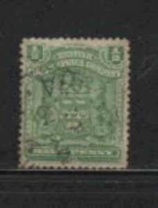 RHODESIA #59 1898 1/2p COAT OF ARMS F-VF USED