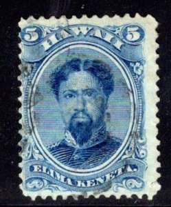 Hawaii #32, postally used, 1866 printing, clear layout lines