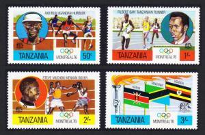 Tanzania Olympic Games Montreal 4v SG#182-185 SC#58-61