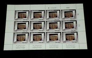 1966, ISRAEL, MUSEUM EXHIBITS, ANCIENT ARTIFACTS, SHEET/12, 0.30, MNH, NICE LQQK