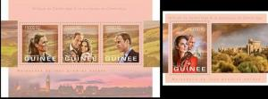 Guinea 2013 Royal family William famous persons klb+s/s MNH