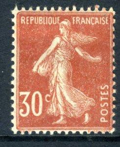 France 1922 MINT 30¢ Dull Scarlet Sower Mint Hinged Z279 ⭐⭐