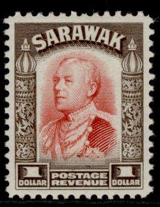 SARAWAK GV SG120, $1 scarlet & sepia, M MINT.