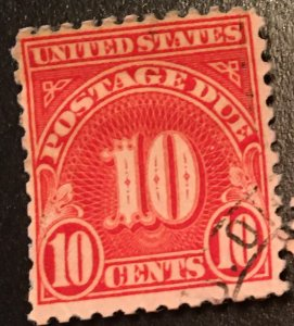 J84 b, Postage Due 10c, 11 x 10 1/2 perf., single, Vic's Stamp Stash